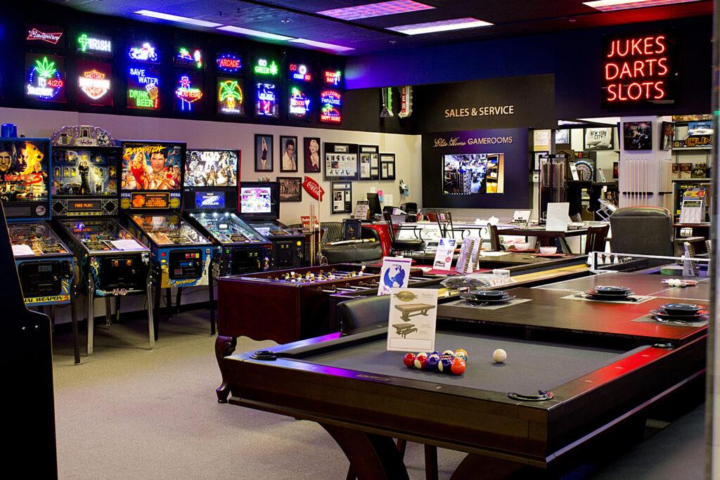 Pinball And Pool Tables
